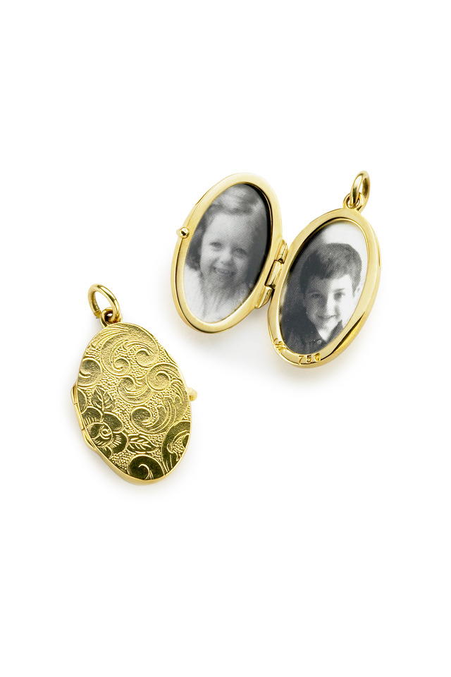 Yellow Gold Cross Locket Necklace