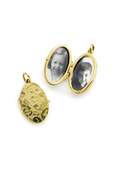 Monica Rich Kosann - Yellow Gold Cross Locket Necklace
