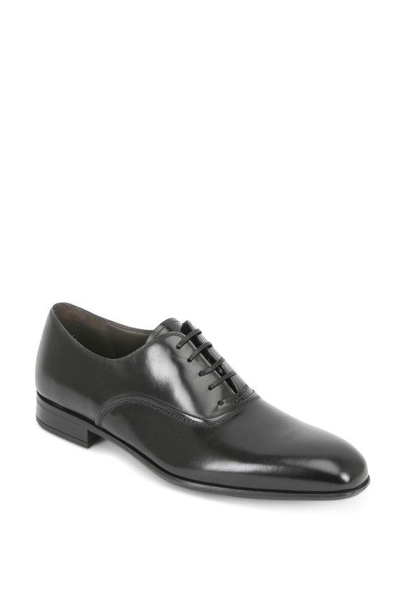 Salvatore Ferragamo Dunn Black Leather Oxford