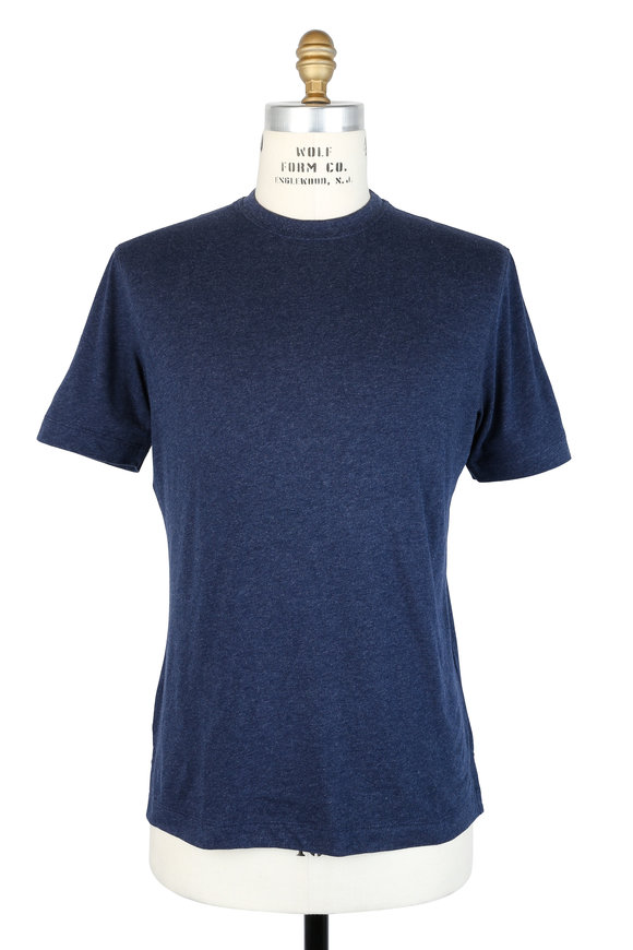 Left Coast Tee Navy Blue Crewneck T-Shirt