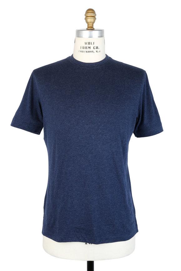 Left Coast Tee Navy Blue Crewneck T-Shirt