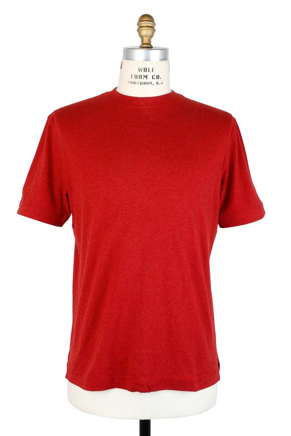 Left Coast Tee Red Crewneck T-Shirt