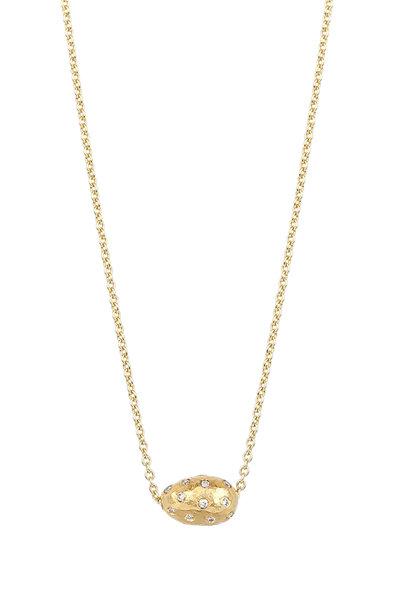 Yossi Harari - 18K & 24K yellow Gold Diamond Bead Necklace