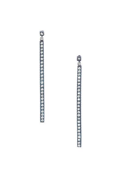 Yossi Harari - 24K Gold Diamond Stick Earrings