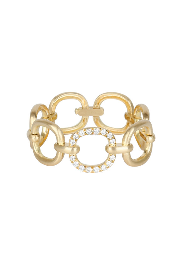 Caroline Ellen 18K Yellow Gold Pavé Diamond Link Bracelet