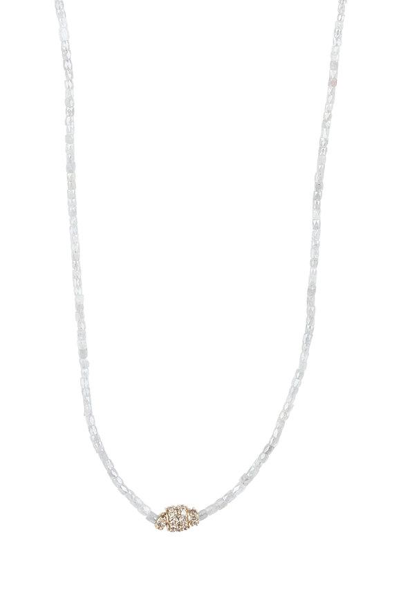 Dana Kellin 14K Gold Gray Diamond Necklace