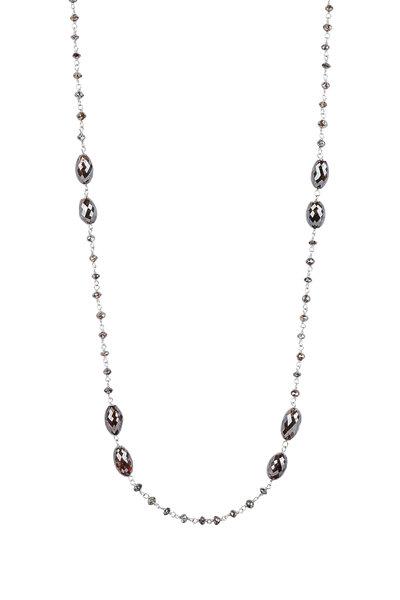 Kathleen Dughi - 18K White Gold Brown Diamond Chain Necklace
