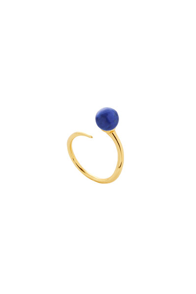 Amanda Pearl - 18K Yellow Gold Plated Cultured Pearl Bypass Ring
