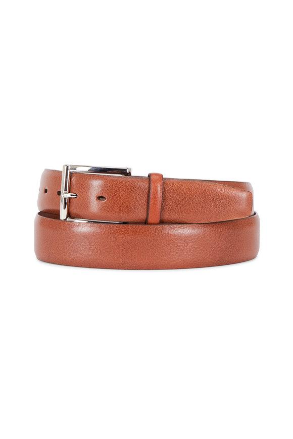 Torino Tan Italian Glazed Leather Belt