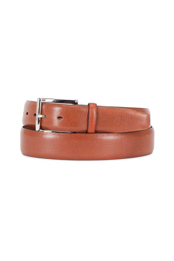 Torino Tan Italian Glazed Leather Belt