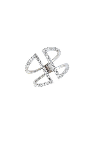 Kathleen Dughi - 18K White Gold Pavé Diamond Ring