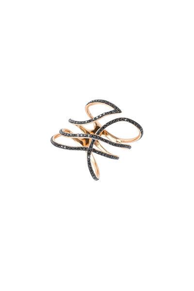 Kathleen Dughi - 18K Rose Gold Black Diamond Ring