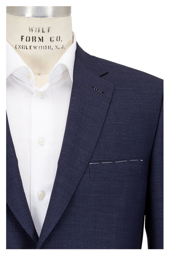 Brioni Solid Blue Wool, Mohair & Silk Suit