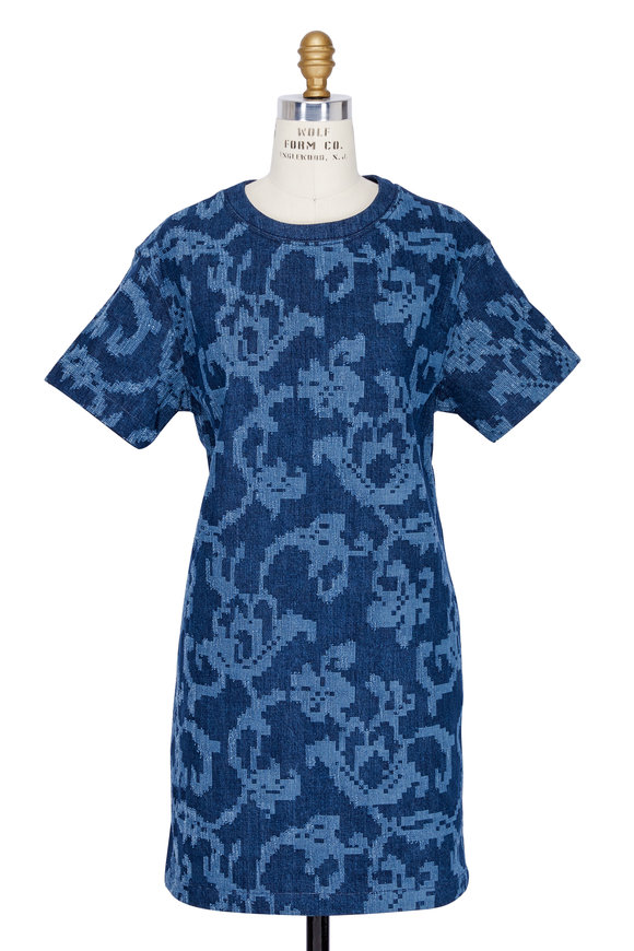 Rag & Bone Esmond Indigo Laser Cut Dress