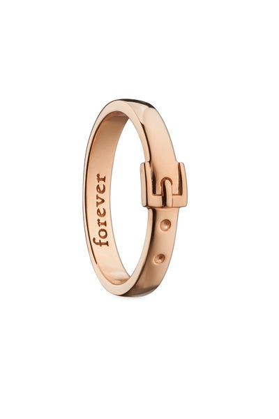 """Monica Rich Kosann - 18K Rose Gold """"Forever"""" Posey Ring"""