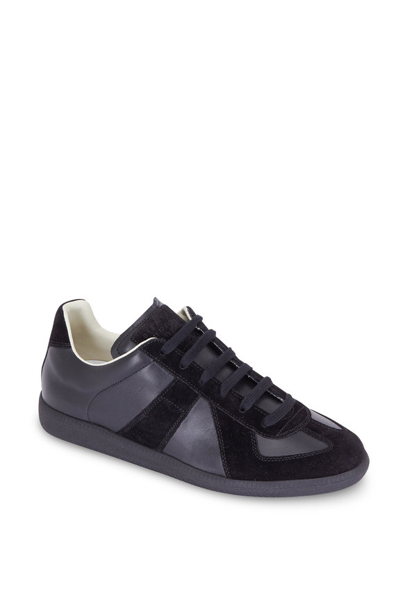 Maison Margiela Replica Black Leather & Suede Sneaker