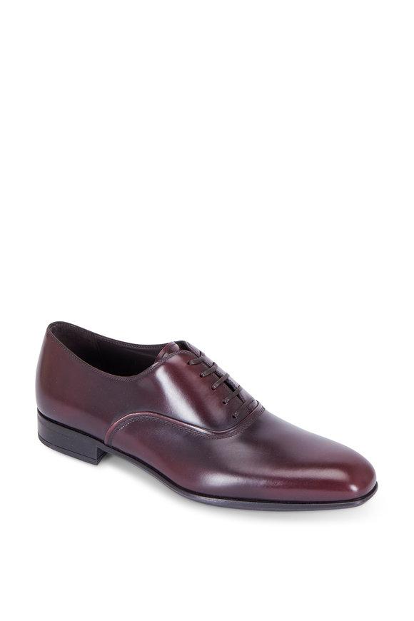 Salvatore Ferragamo Dunn Barolo Burgundy Leather Oxford