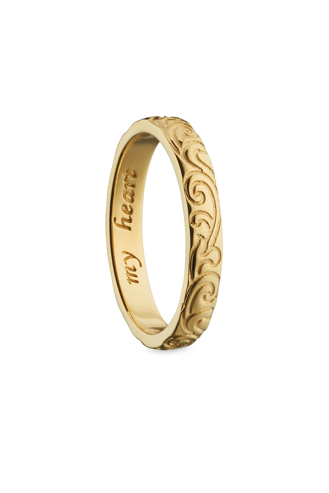 "18K Yellow Gold ""My Heart"" Posey Ring"