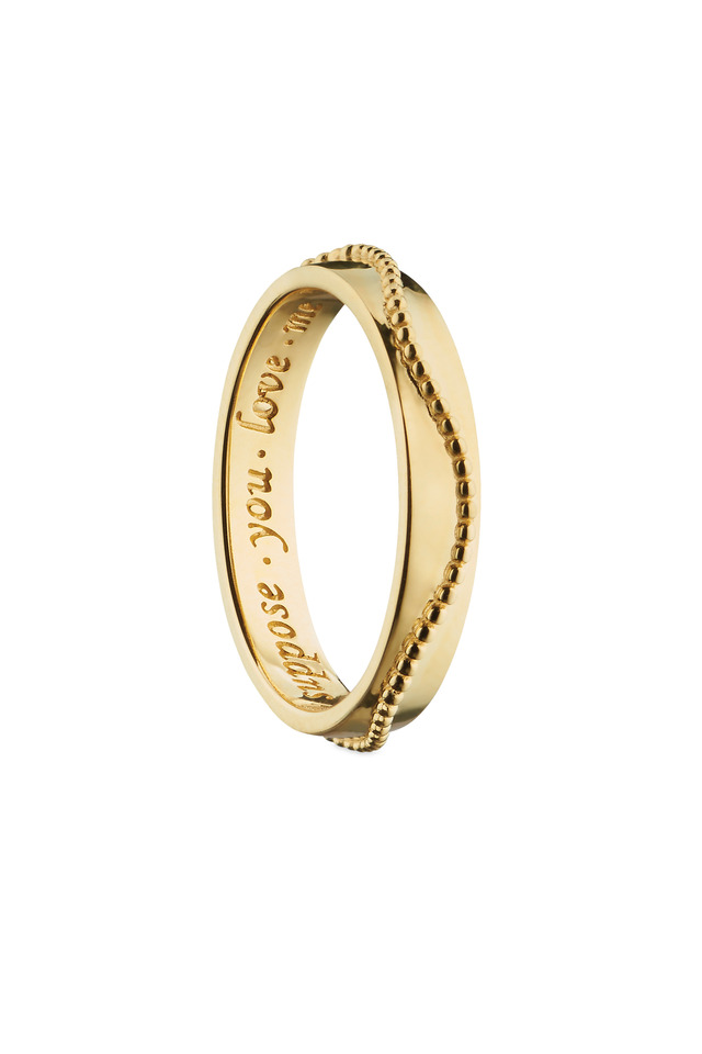 "18K Yellow Gold ""Suppose You Love Me"" Posey Ring"