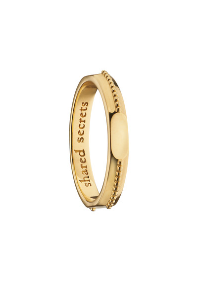 """Monica Rich Kosann - 18K Yellow Gold """"Shared Secrets"""" Posey Ring"""