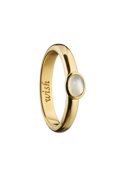 "Monica Rich Kosann - 18K Yellow Gold Moonstone ""Wish"" Posey Ring"