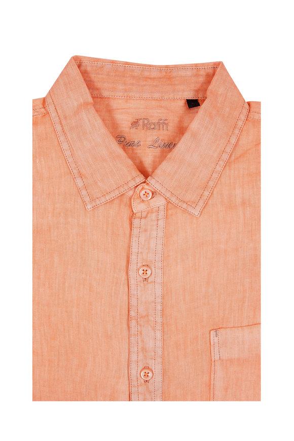 Raffi  Tangerine Linen Sport Shirt