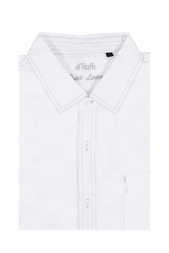Raffi  White Linen Sport Shirt