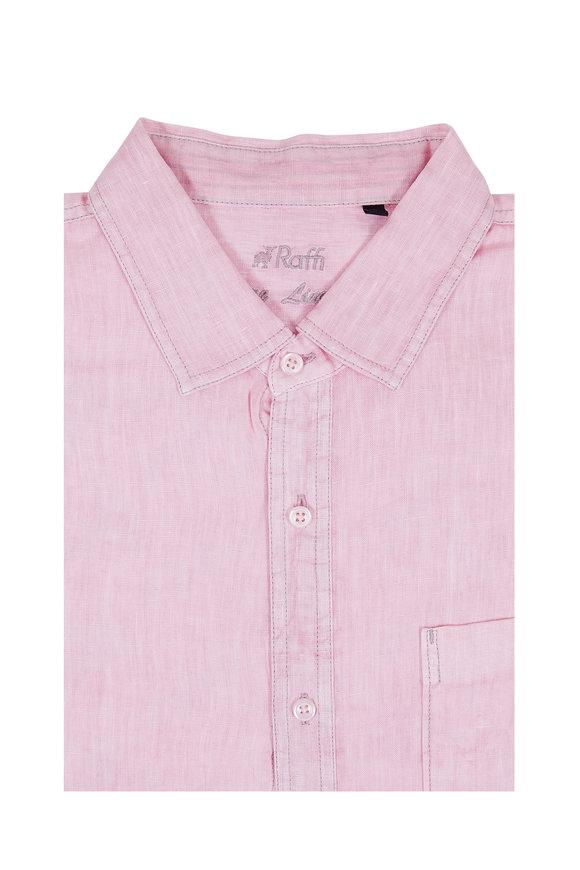 Raffi  Pink Linen Sport Shirt
