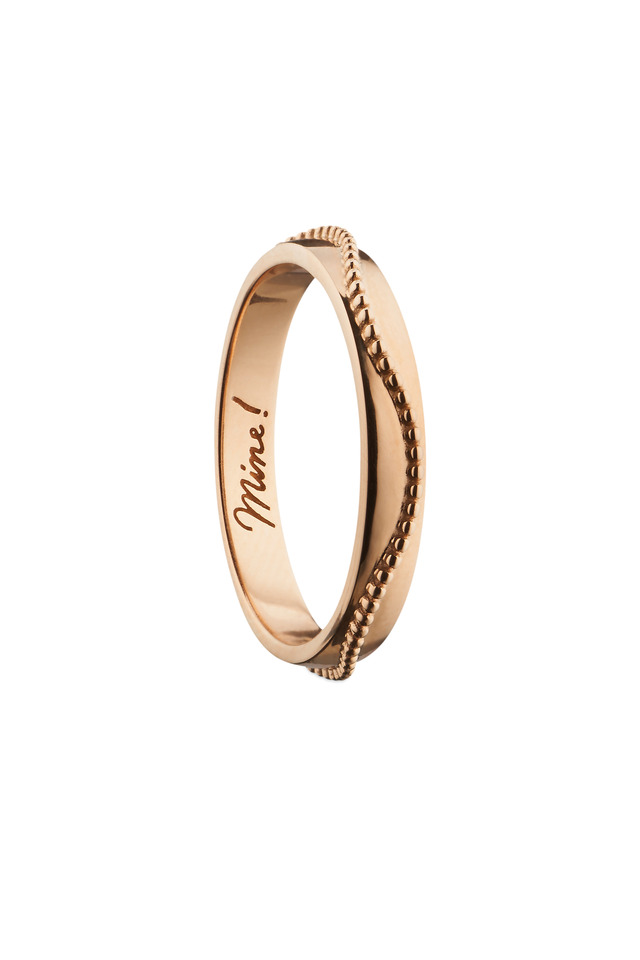 "18K Rose Gold ""Mine!"" Posey Ring"