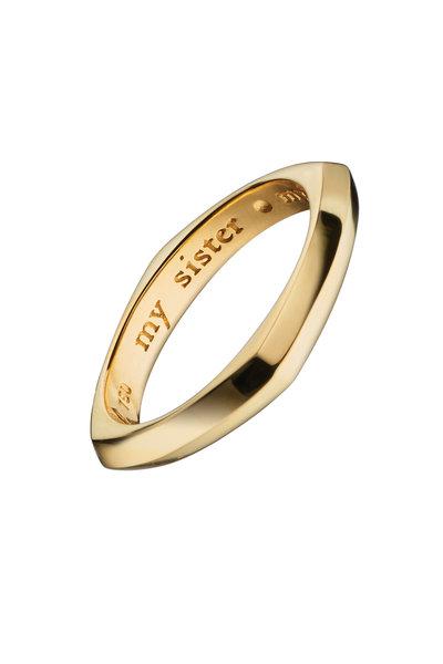 "Monica Rich Kosann - 18K Yellow Gold ""My Sister, My Friend"" Posey Ring"