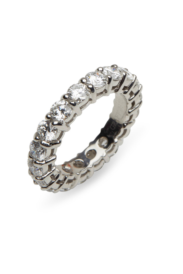 Platinum Claw-Set Diamond Eternity Band