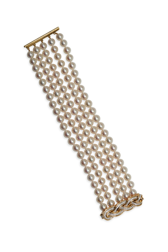Assael Angela Cummings Gold Woven Diamond Bracelet