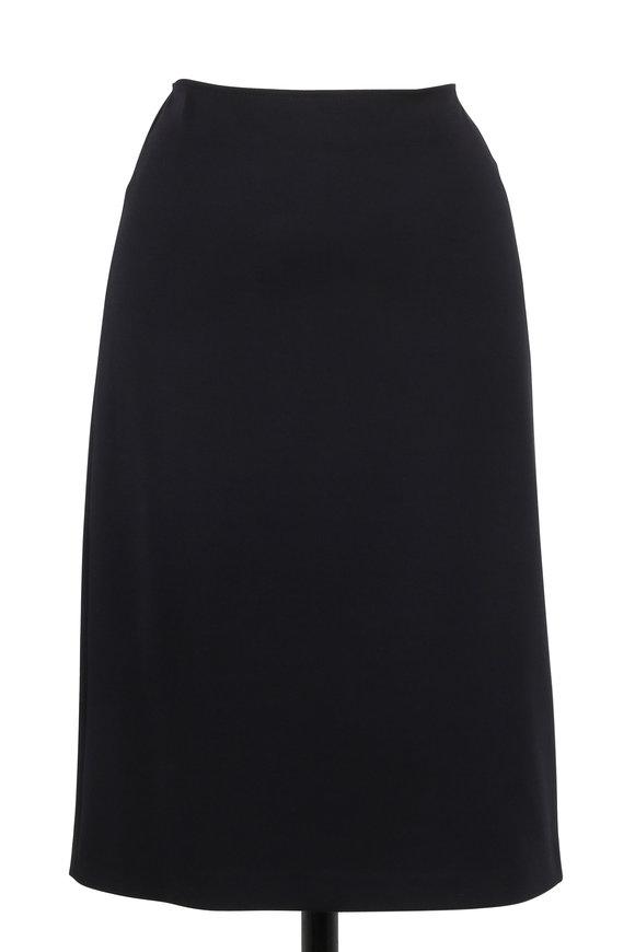 Armani Collezioni Black Stretch Jersey Skirt