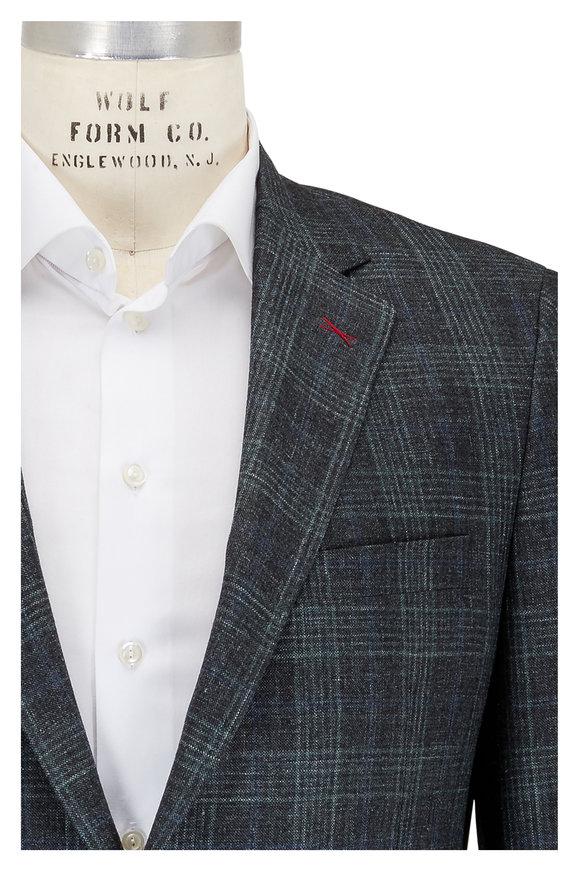 Samuelsohn Olive Glen Plaid Wool, Silk & Linen Sportcoat
