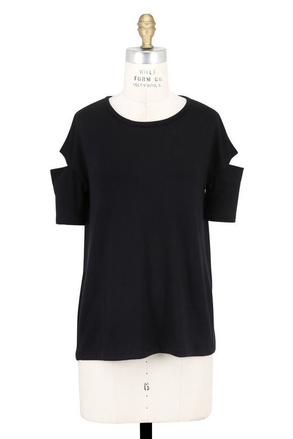 Rag & Bone Island Black Slit Sleeve T-Shirt