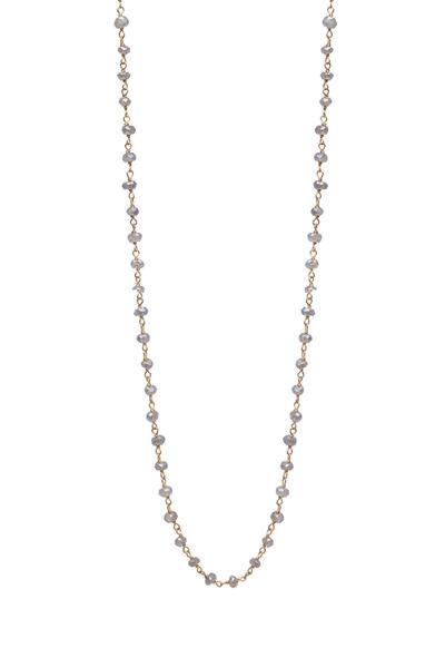 Emily & Ashley - Coated Labradorite Necklace