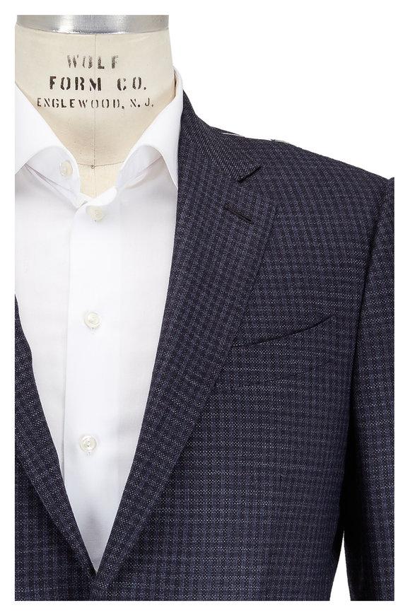 Ermenegildo Zegna Charcoal Grey Check Wool Sportcoat