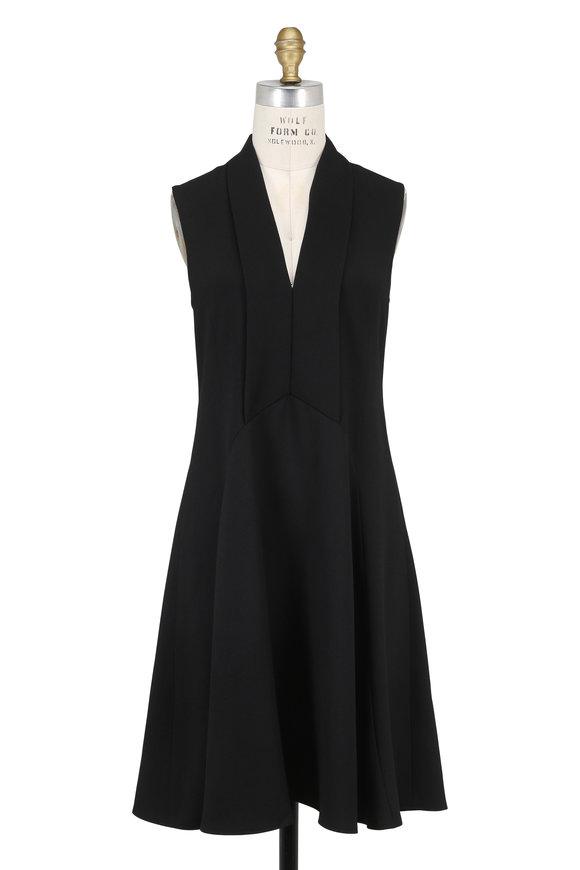 Derek Lam Black V-Neck Sleeveless Dress