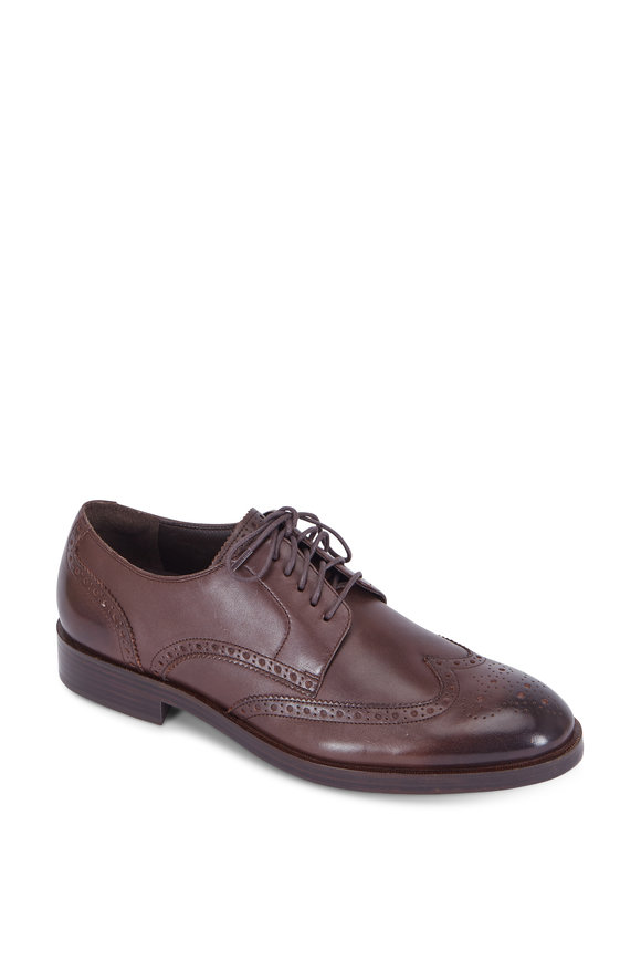 Cole Haan Harrison Grand Dark Brown Wingtip Oxford