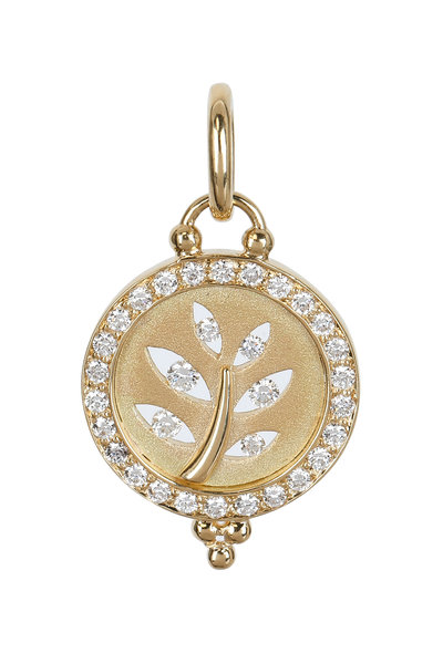 Temple St. Clair - Yellow Gold Diamond Tree Of Life Pendant