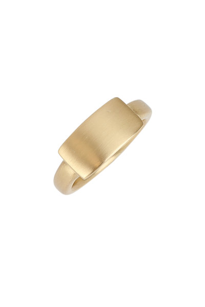Caroline Ellen - 20K Yellow Gold Chunky Signet Ring