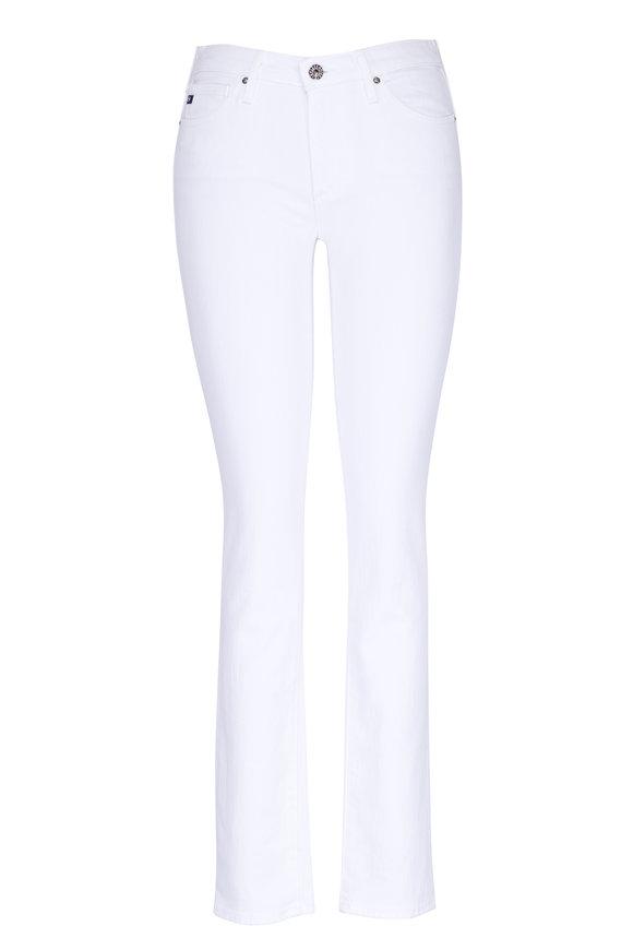 AG - Adriano Goldschmied The Prima White Mid-Rise Cigarette Jean