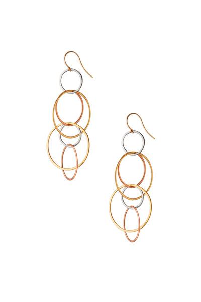 Monica Rich Kosann - Yellow, Rose & White Gold Gyroscope Earrings