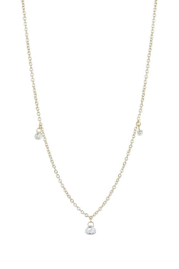 Caroline Ellen 18K White Gold Tabiz Briolette Necklace