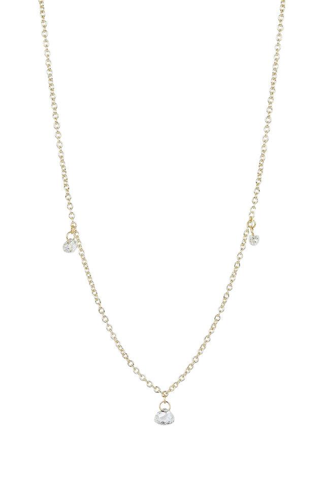 18K White Gold Tabiz Briolette Necklace