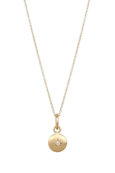 Caroline Ellen - 20K Yellow Gold Diamond Star Pendant Necklace
