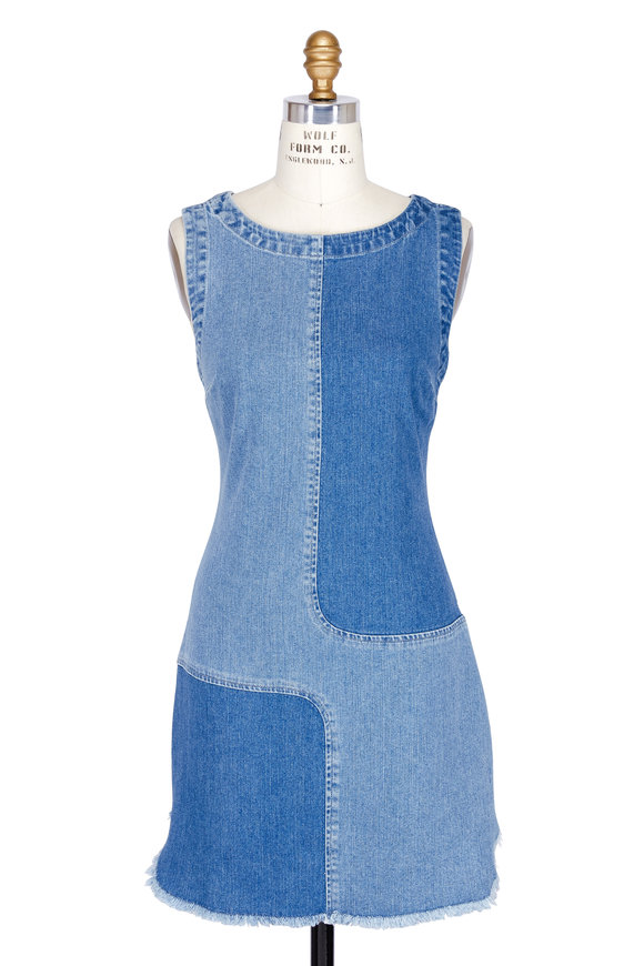 AG - Adriano Goldschmied Indie Colorblock Sleeveless Denim Dress