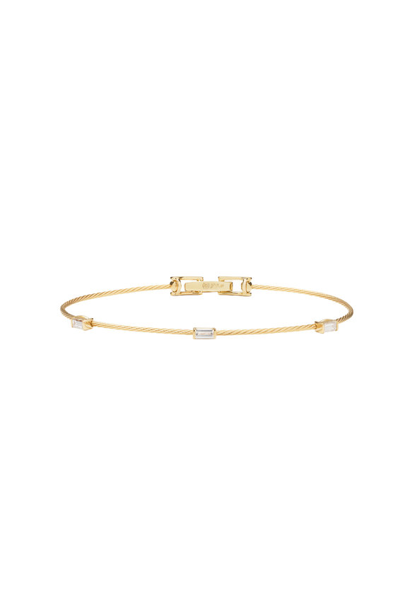 Paul Morelli 18K Yellow Gold Diamond Wire Bracelet