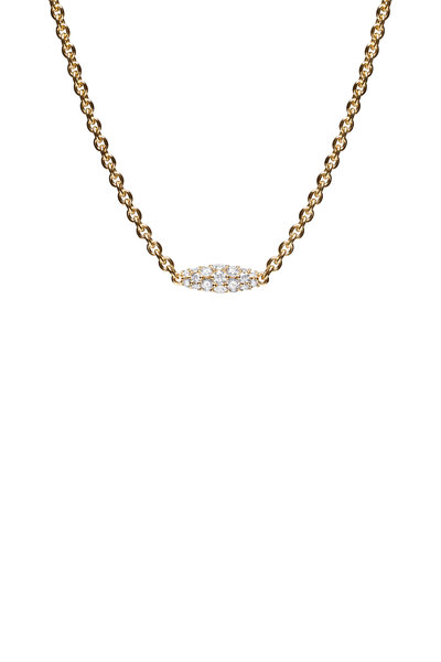Paul Morelli - 18K Yellow Gold Diamond Pipette Necklace
