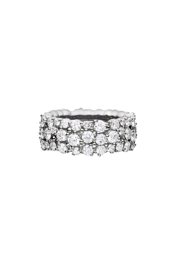 Paul Morelli 18K White Gold Diamond Confetti Ring